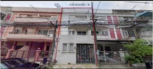 For RentTownhouseRamkhamhaeng, Hua Mak : LBH0127 Homeoffice 3 storey for rent, good location, Ramkhamhaeng area 24/5, 300 meters from the main road.