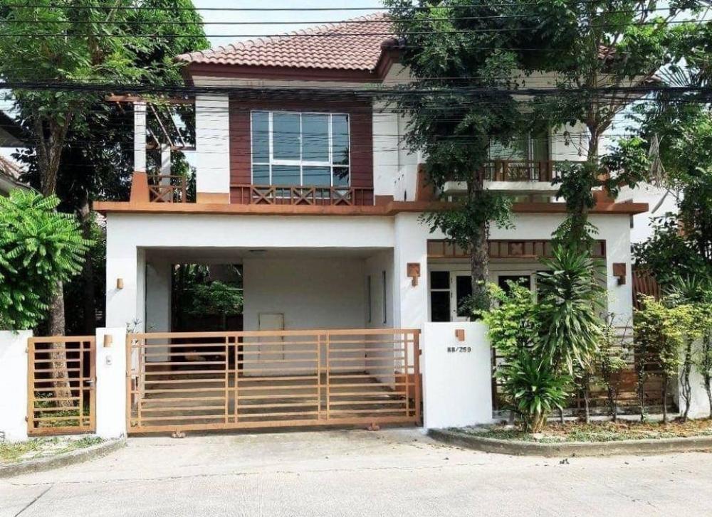For RentTownhouseBangna, Lasalle, Bearing : Atoll Village Maldives Palms 2 storey detached house, resort style