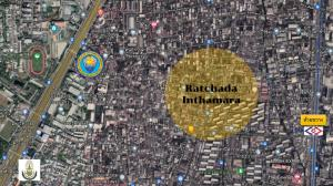 For SaleLandRatchadapisek, Huaikwang, Suttisan : Land for sale, good location, Inthamara Road (in a continuously developed area)