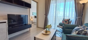 For RentCondoOnnut, Udomsuk : *** For rent, The Line Sukhumvit 101 Condominium, 1 bedroom, 1 bathroom, size 27 sq.m., floor 12, fully furnished, ready to move in. Rental price 12,000 baht / month. Close to BTS Punnawithi.