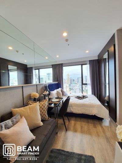 For RentCondoRama9, RCA, Petchaburi : ID019_N 😍👍IDEO MOBI ASOKE Very nice room, fully furnished, ready to move in 👍