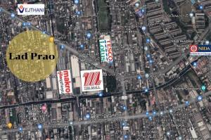 ขายที่ดินลาดพร้าว101 แฮปปี้แลนด์ : ขายที่ดินเปล่า แปลงสี่เหลี่ยมจตุรัส ถนนลาดพร้าว ใกล้ The Mall บางกะปิ