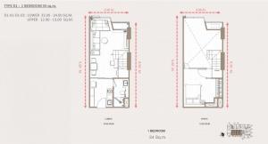ขายดาวน์คอนโดราชเทวี พญาไท : ขายดาวน์ Park Origin ราชเทวี ชั้น30ตำแหน่งห้องที่ดีที่สุดใน type นี้
