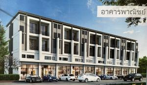 For RentShophouseRama 2, Bang Khun Thian : 3-storey commercial building for rent, Sinthavee Thian Thale Village 2, suitable for trading and living, building size 23 sq.wa.