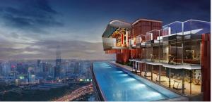 For SaleCondoRama9, RCA, Petchaburi : 🔥 特价出售🔥 NEW CBD Life Asoke Hype 两 房 48.5 平米 售 610 万泰铢 近地铁MRT RAMA 9站
