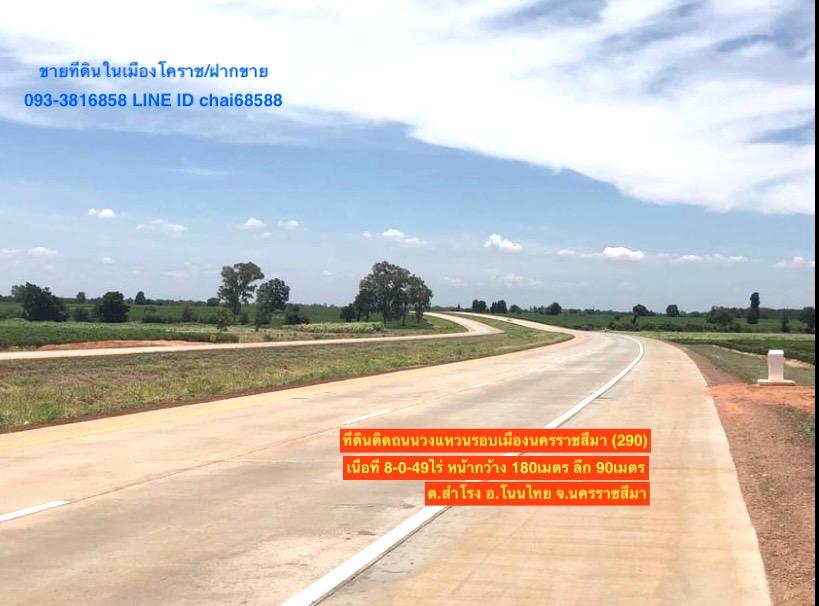 For SaleLandKorat KhaoYai Pak Chong : Land for sale on the ring road around the city, 290, area 8 rai (Northern part 2)