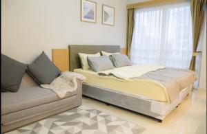 For RentCondoRama9, RCA, Petchaburi : SR1-FF90 Condo for rent at I-House Laguna Garden RCA, new room, ready to move in.