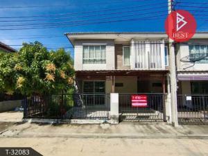 For SaleTownhouseSamrong, Samut Prakan : Quick sale, townhouse behind the corner, Pruksa Ville 49 Srinakarin, Samut Prakan.