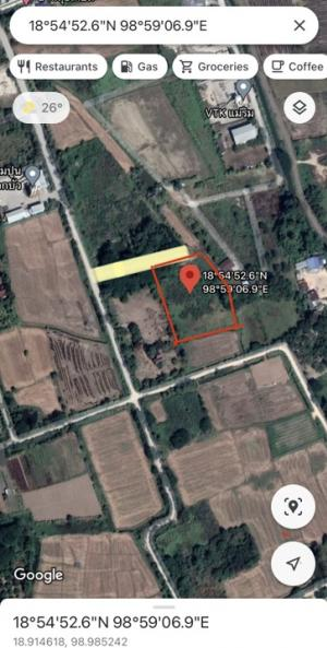 For SaleLandChiang Mai : Land for sale (by owner) in Mae Rim district, Chiang Mai 3 rai 2 ngan 83sq.wa (1483 sq.wa equivalent to 5,932 sq.m) 500m away from main road. Mountain view and just right next to canal.
