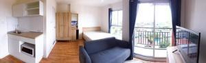 For RentCondoOnnut, Udomsuk : For rent, Lumpini Ville Sukhumvit 101/1, fully furnished, city view.