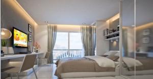 For RentCondoPattanakan, Srinakarin : Condo for rent, Assakarn Place Srinakarin, new room, ready to move in.