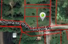 For SaleLandNakhon Pathom, Phutthamonthon, Salaya : Land for sale, Phutthamonthon Sai 2, Soi 19, good price