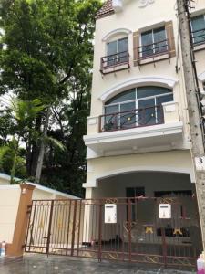 For RentTownhouseRamkhamhaeng, Hua Mak : RTJ730 3-storey townhome for rent, behind the corner of Baan Klang Muang, The Paris Rama 9 - Ramkhamhaeng, Krungthep Kreetha Road Soi 7