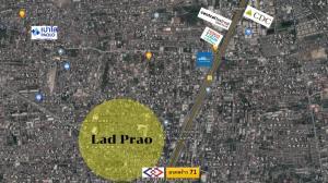 ขายที่ดินลาดพร้าว71 โชคชัย4 : ขายที่ดินเปล่า แปลงสวย ติดถนนลาดพร้าว ติดรถไฟฟ้า MRT สายสีเหลือง !!