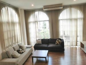 For RentTownhouseRamkhamhaeng, Hua Mak : LBH0130 3-storey townhome for rent, Village Plus city park (Hua Mak - Rama 9), fully furnished, ready to move in.
