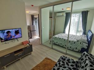 For RentCondoRamkhamhaeng, Hua Mak : For rent Plum condo ram60 interchange (23 sqm.) Building D, 6th floor, good view, new room, price 6,500 baht/month Free common fee 900 per month