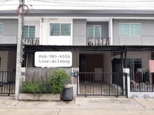 For RentTownhouseBangbuathong, Sainoi : Townhouse for rent in Bang Yai area, at the beginning of Soi Kantana 💢 Pruksa University