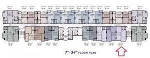 Sale DownCondoRamkhamhaeng, Hua Mak : Sale down payment 1 Bedroom Plus 44sqm floor 32 Supalai Veranda Ramkhamhaeng (owner selling)