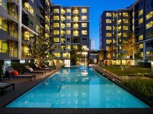 For SaleCondoChengwatana, Muangthong : Condo for sale, garden view, 2nd floor, corner room, Building A, 1 bedroom, size 34.62 sq.m.