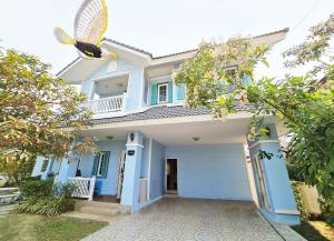 For SaleHouseChiang Mai : Lanna style detached house, applied in a peaceful and shady project, very good condition house, wide area. with complete utilities