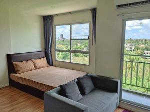 For RentCondoRattanathibet, Sanambinna : For rent Lumpini Ville Phra Nang Klao,💚 7th floor, river view, has a washing machine.