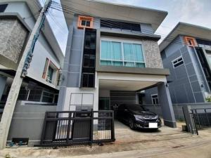 For RentHouseLadprao101, The Mall Bang Kapi : RHT509 House for rent. Suitable for office or 2-storey living, Lat Phrao 124 Village, Goodville Dewa Village