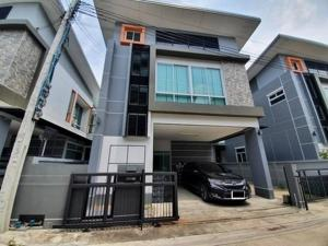 For RentHouseLadprao101, The Mall Bang Kapi : 2 storey detached house for rent, Goodville-Deva Village, Soi Ladprao 124, partially furnished, 3 air conditioners, can live or be a registered company office.