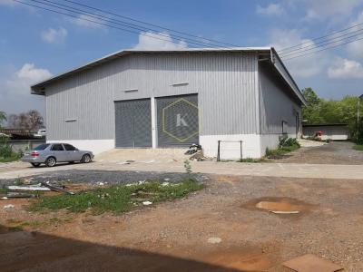 เช่าโกดังรังสิต ธรรมศาสตร์ ปทุม : ให้เช่าโกดัง 435 ตร.ม. ซอยไอยรา ใกล้ตลาดไท ต.คลองหลวง จ.ปทุมธานี Warehouse for rent, 435 sq. m., Soi Aiyara, near Thai Market, Khlong Luang Subdistrict, Pathum Thani Province