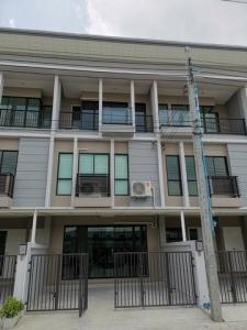 For RentTownhouseOnnut, Udomsuk : Code C4146 for rent and sale of 3-storey townhome, Time Home Village. On Nut Ring Road, near Mega Bangna