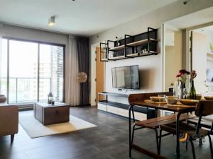 For RentCondoSukhumvit, Asoke, Thonglor : For rent The Lofts Ekkamai  2Bed , size 65 sq.m., Beautiful room, fully furnished.
