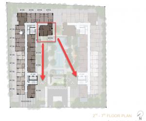 ขายดาวน์คอนโดบางนา แบริ่ง : [Owner] ขายเท่าทุน Nue Noble Centre Bangna 52 sqm 3 bedrooms, 4th floor, layout room and best height position in the project.