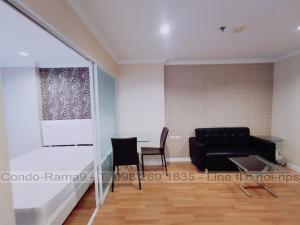 เช่าคอนโดพระราม 9 เพชรบุรีตัดใหม่ : RENT !! Condo Lumpini Place, MRT Rama 9, 1 Bed, Tower C, Floor 18, 34 sq.m., 10,000 Baht