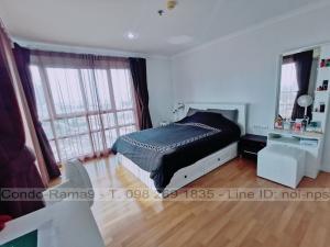 For SaleCondoRama9, RCA, Petchaburi : SALE !! Condo Lumpini Place, MRT Rama 9, 2 Beds, Tower D, Floor 19, 71 sq.m., 5.8MB