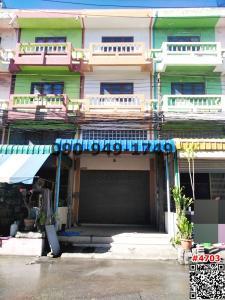 For RentShophouseMahachai Samut Sakhon : For rent 3 and a half storey building, Fa Sai Village, Krathum Baen, newly decorated