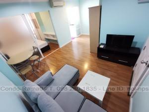 เช่าคอนโดพระราม 9 เพชรบุรีตัดใหม่ : RENT !! Condo Lumpini Place, MRT Rama 9, 1 Bed, Tower D, Floor 19, 34 sq.m., 10,000 Baht