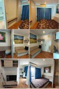 For RentCondoLadkrabang, Suwannaphum Airport : Luxury rental room, fully furnished, 23 sqm, V Condo Ladkrabang (V condo Ladkrabang), Chalongkrung Road, near Techno Lat Krabang In front of Ladkrabang Industrial Estate 5700 baht
