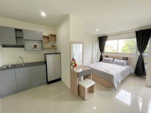 For RentCondoRamkhamhaeng,Min Buri, Romklao : Condo Asakan City Phase B Ramkhamhaeng @Sky Train Orange Line, 5,500 THB Per month, Fully furnished