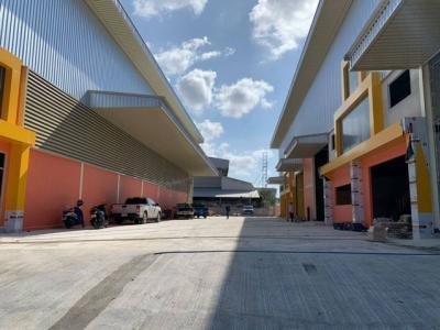 For RentFactorySamrong, Samut Prakan : RK055 for rent a new factory Total usable area 520 square meters, purple area, Phraeksa, Samut Prakan Province