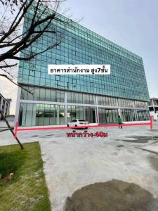 For RentOfficeYothinpattana,CDC : Brand new office building for rent, 7 floors, with 2 elevators, usable area 3,100 sq m, parking for 50 cars, on the road along the At Narong Ekamai-Ramintra Expressway.