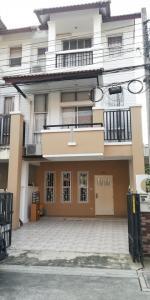 For RentTownhouseRama5, Ratchapruek, Bangkruai : 3 storey townhome for rent, behind the corner, near Wat Chalo