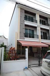 For SaleTownhouseLadprao101, The Mall Bang Kapi : SH5010 3-storey townhome for sale, Baan Klang Muang University, Ladprao 87 near CDC.