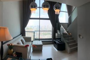 For RentCondoOnnut, Udomsuk : Condo for rent Rhythm Sukumvit 44/1 Type Duplex 1 bedroom 1 bathroom Size 60.4 sq.m. Floor 30-31