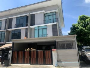 For SaleTownhouseChengwatana, Muangthong : Selling at a loss, 3-storey townhouse, Pruksa View 65/2 Srisamarn project, behind Robinson Srisamarn.