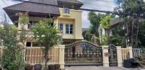 For RentHouseNawamin, Ramindra : Rent ! 3-storey detached house in the project in Kubon area, fully furnished, ready to be in the budget of 35,000 call 095-929-5613
