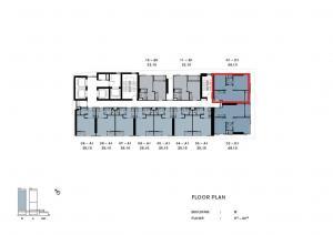ขายคอนโดวงเวียนใหญ่ เจริญนคร : Riverfront อาคารB +100,000 วิวทิศเหนือ B1901