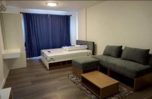 For RentCondoBangna, Lasalle, Bearing : For rent, D Condo Campus Resort Bangna, garden view.