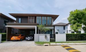 For RentHousePattanakan, Srinakarin : House for rent, Burasiri Phatthanakan, new house, fully furnished, ready to move in.