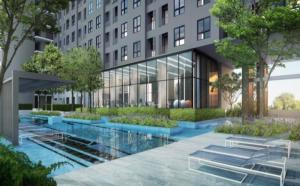 For RentCondoOnnut, Udomsuk : 🔥🔥 Cashback 1,000 ฿ 🔥 Rent Ideo Mobi Sukhumvit 81, next to BTS, size 31 sq.m., 14th floor, pool view [Code:A240]🔥🔥