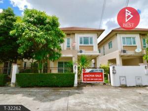 For SaleHousePattaya, Bangsaen, Chonburi : Twin house for sale, Tada Park, Eastern Seaboard, Chonburi.