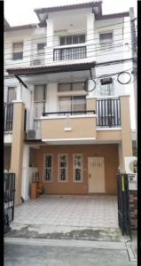 For RentTownhouseRama5, Ratchapruek, Bangkruai : Townhouse for rent, behind the corner 💢 near Wat Chalor, fully furnished